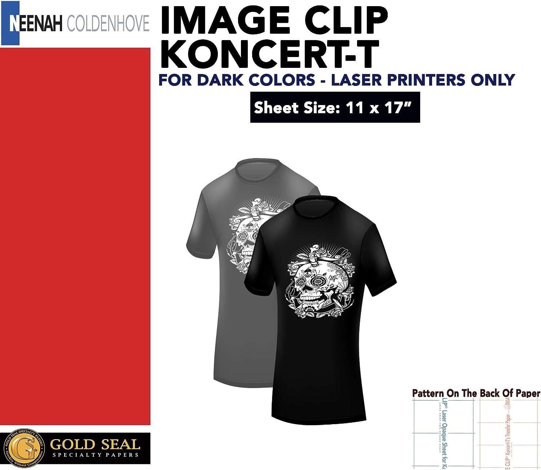 IMAGE CLIP KONCERT-Ts 50Pk : 11X17 LASER TRANSFER FOR DARK FABRIC