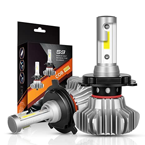 AutoFeel H4 LED Headlight Bulbs Hi/Lo Beam Conversion Kit, S9 Series Super Bright