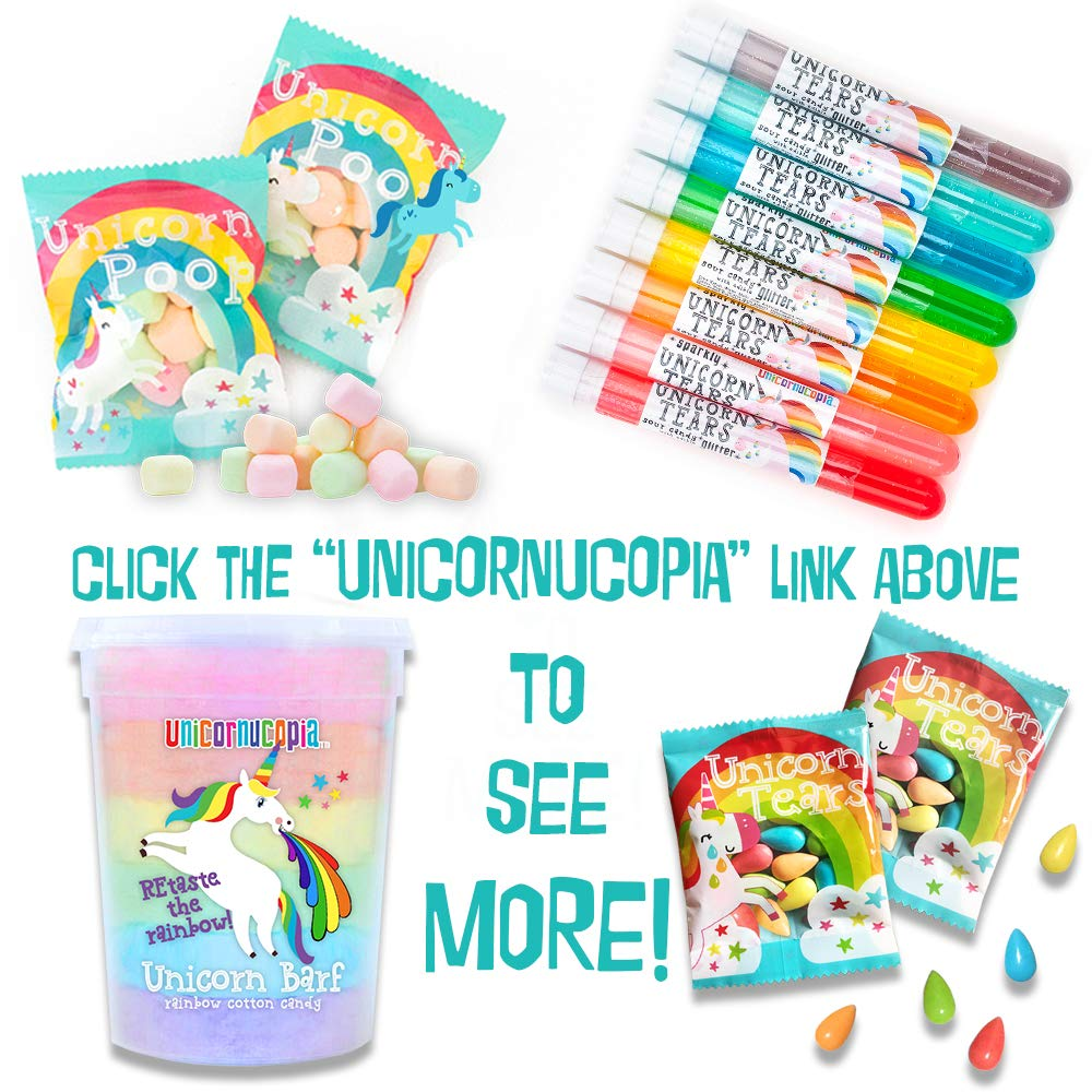 Unicorn Poop Candy - MADE IN THE USA - 24 Party Supplies Bags Favors for Kids - Marshmallows Bulk Treat Packs - Stocking Stuffers by Unicornucopia