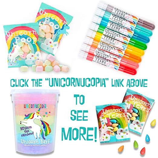 Unicorn Tears Candy Party Favors for Kids - 24 Unicorn Party Supplies -  Sour Treats for Birthday Goodie Bags