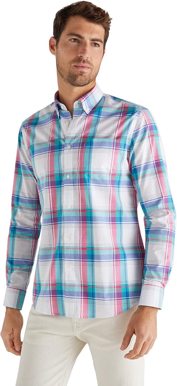 Cortefiel Big Check Colores Camisa Casual para Hombre: Amazon.es: Ropa y accesorios