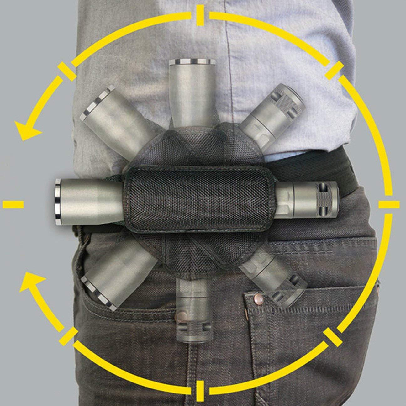 HIPENGYANBAIHU Cubierta Multifuncional de Linterna t/áctica giratoria de 360 Grados para Exteriores Bolsa t/áctica