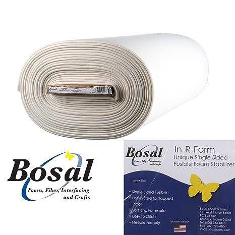 Color Blanco Bosal 18/x 58-Inch in-r-Form /único Estabilizador de Espuma de Tela