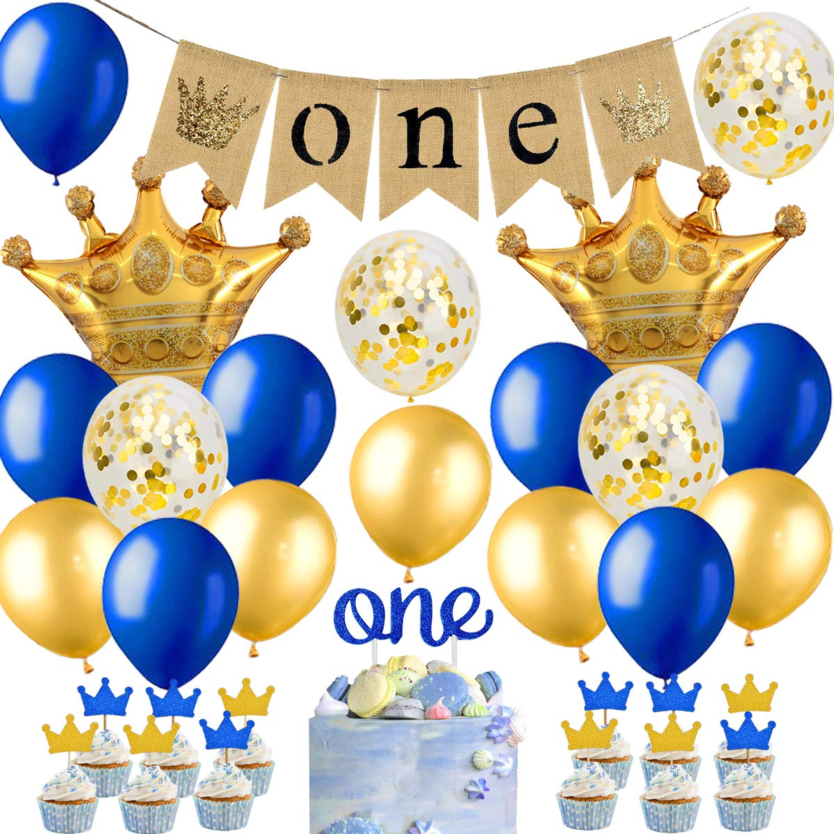 Royal Blue And Yellow Birthday Party Decorations from images-na.ssl-images-amazon.com