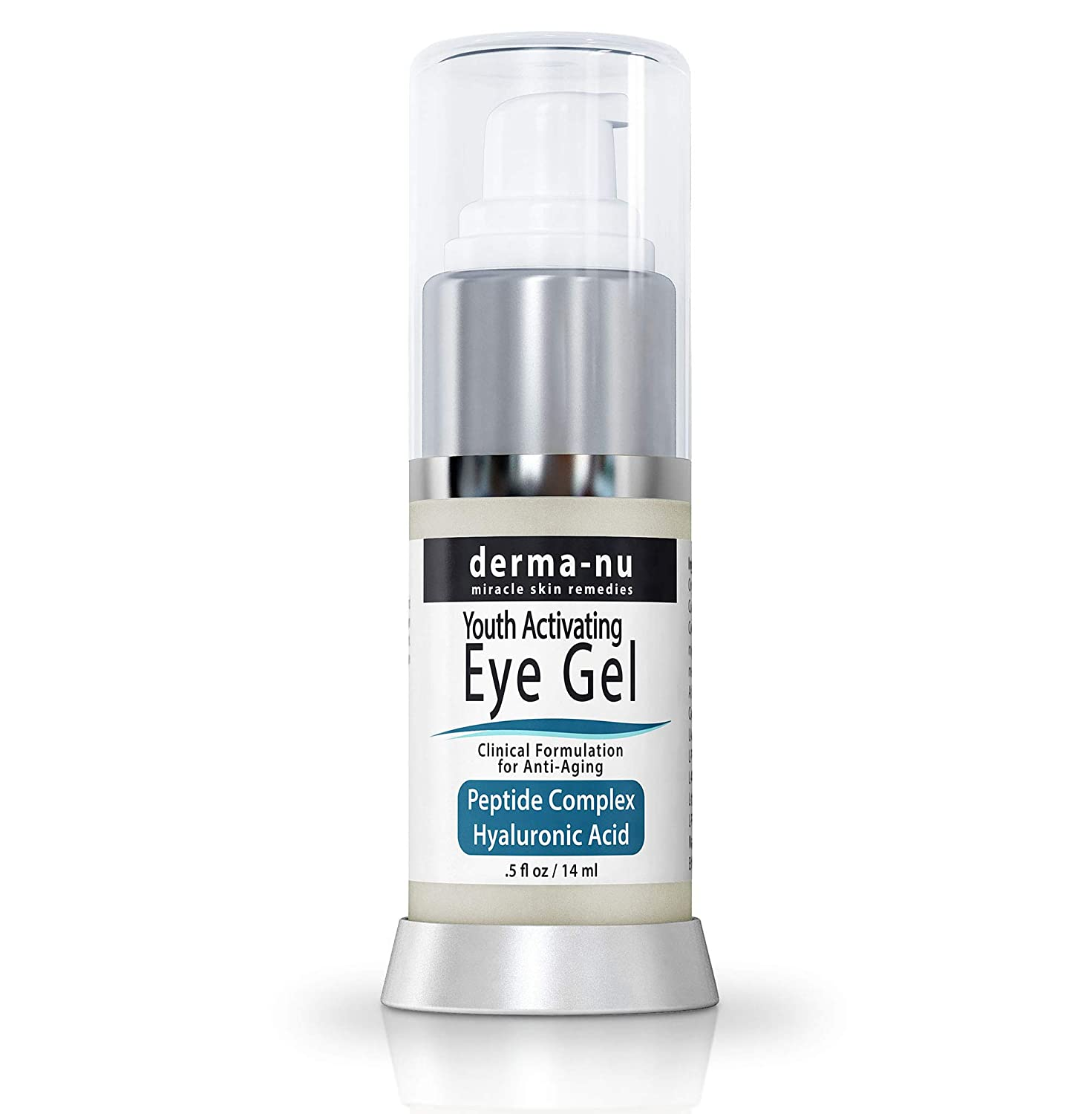 Eye Gel Anti-Aging Cream - Treatment for dark Circles, Puffiness, Wrinkles and Fine Lines - Hyaluronic Acid Formula Infused Serum with Aloe Vera & Jojoba for Ageless Smooth Skin - .5 oz