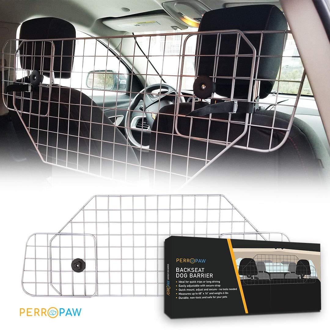 Dog Car Barriers for SUV - Adjustable Dog Gate for Car SUV or Other Vehicle, The Perfect Dog Dividers for SUV Adventurers by Perropaw
