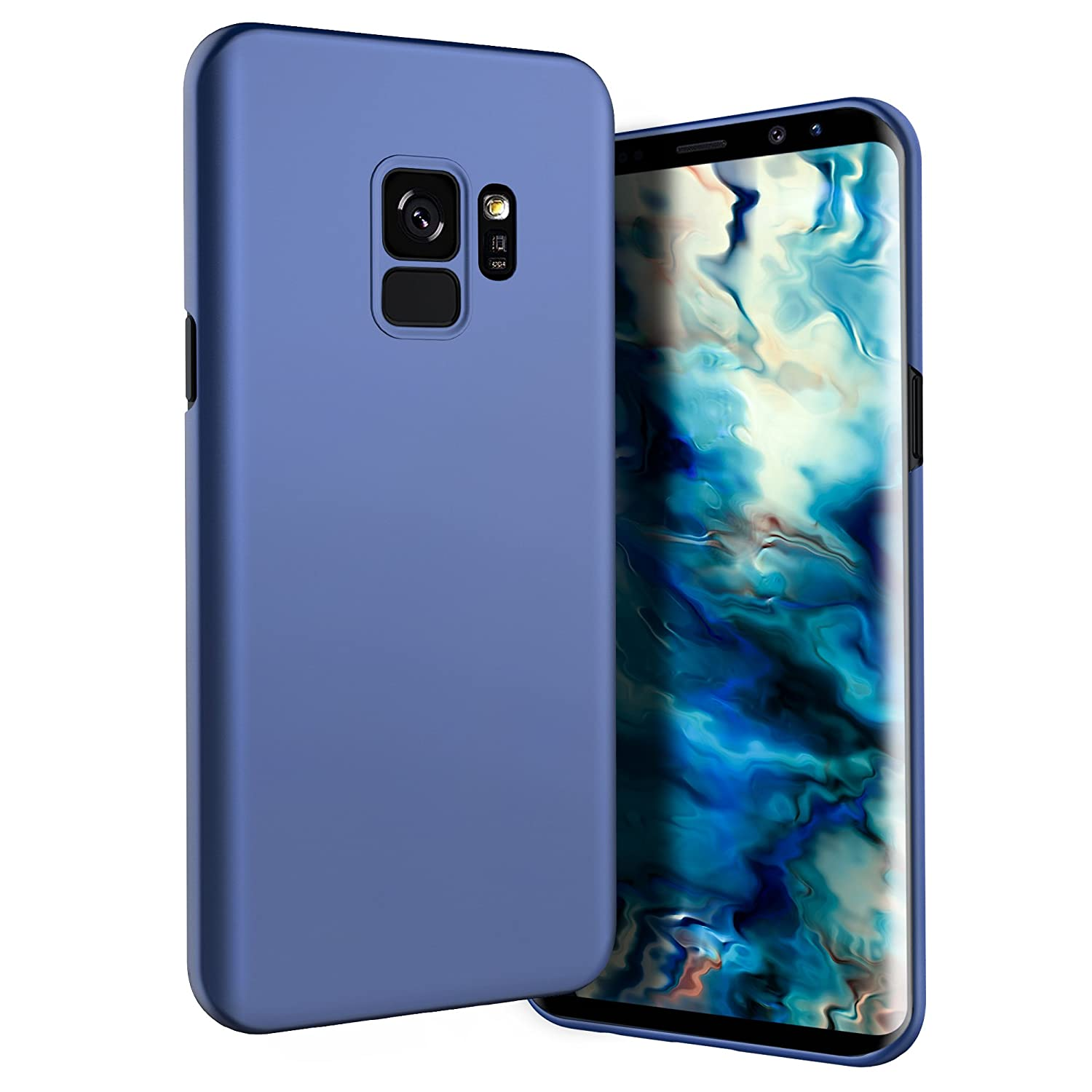 Galaxy S9 Case, Belk Ultra Slim Thin Snug-Fit Scratch Resistant Premium PC Hard Protective Cover with Matte Finish Coating for Samsung Galaxy S9, Blue