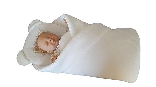 BlueberryShop Abrigada Lana con Almohada Sábana Bajera Manta Saco de Dormir Regalo Cumpleaños 0-4 meses (0-3m) (78 x 78 cm) Amarillo: Amazon.es: Bebé