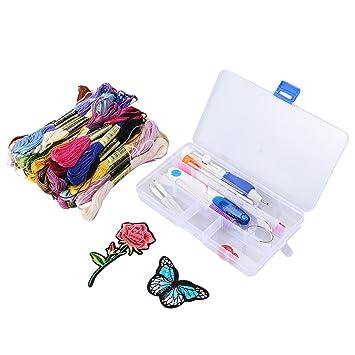 supvox Magic Embroidery Pen Punch Needle manualidades Craft Knitting Tool Set para costura Fai Da Te costura a punto de cruz para coser: Amazon.es: Hogar