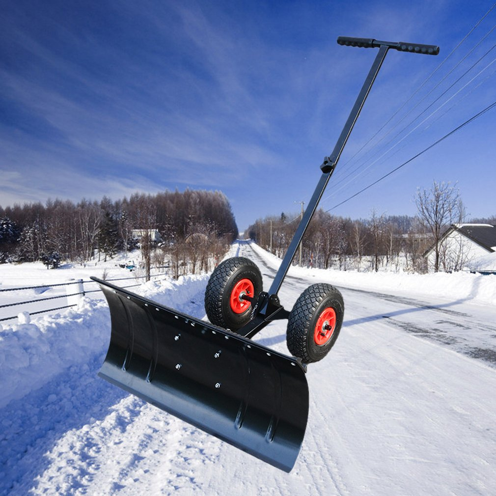 Schneeschieber Schneepflug mit Rädern Schneeschaufel  46cm breit  Schnee