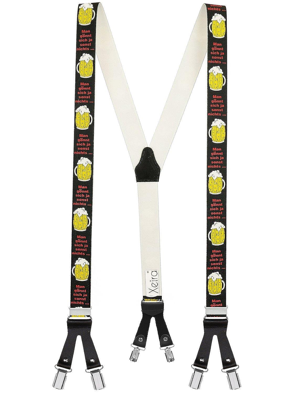 Hecho en Alemania Xeira    Y-shape llaves hombres y mujeres con 6 clips fuertes y correas de cuero