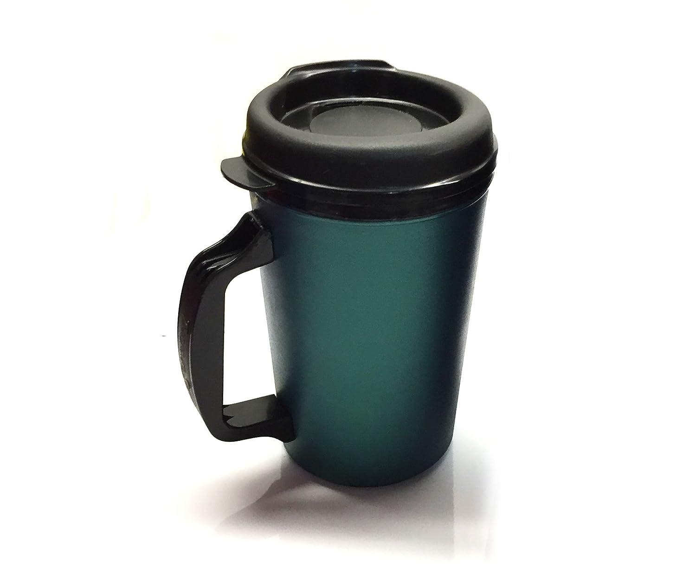 Amazon aladdin coffee mugs - Amazon Com 20 Oz Thermoserv Foam Insulated Coffee Mug Black Green Two Pack Kitchen Dining