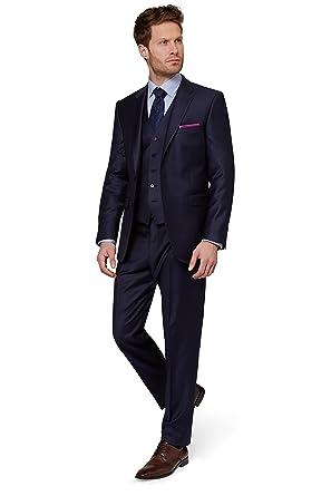 9144d16f33c69 Ermenegildo Zegna Cloth Men's Regular Fit Naples Blue Suit Jacket 46S Blue
