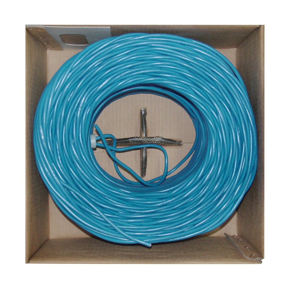 Offex Bulk Shielded Cat6 Blue Ethernet Cable, Solid, Spool, 1000' (OF-10X8-561NH)