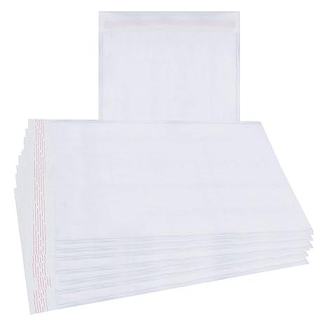 amazon com 25 pack white kraft padded envelopes 8 5 x 11 white