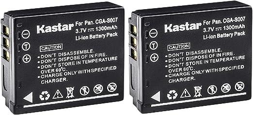 Battery Charger For Panasonic CGA-S007 S007E DMC-TZ5 Lumix TZ5K TZ5S TZ50  /_SX