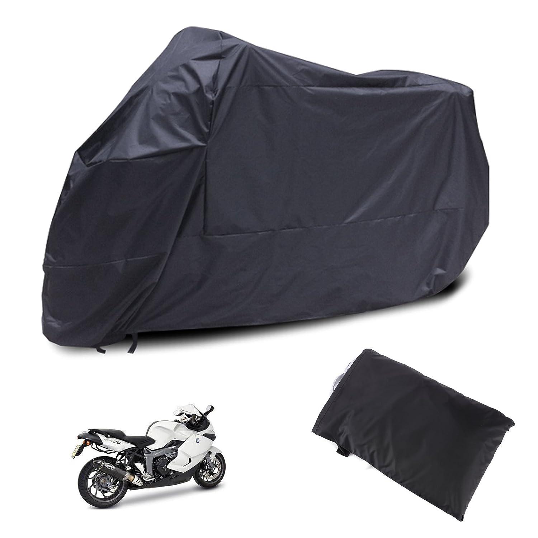 Housse Bache MOTO Couvre-Moto velo VTT scooter Taille L 225cm Noir impermeable
