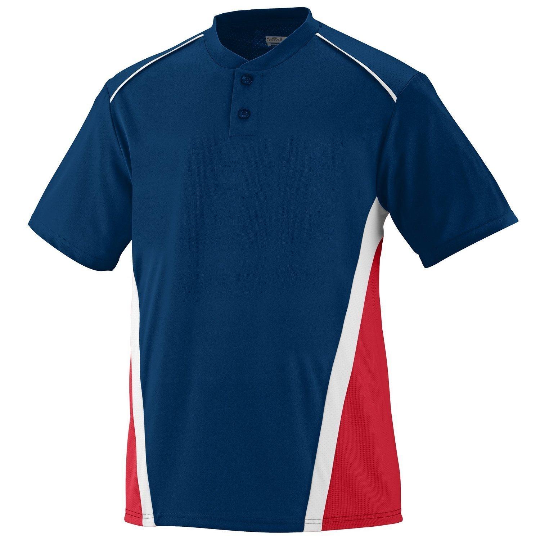 Augusta SportswearメンズRBI野球ジャージー B00E1YTVIS XX-Large|ネイビー/レッド/ホワイト ネイビー/レッド/ホワイト XX-Large