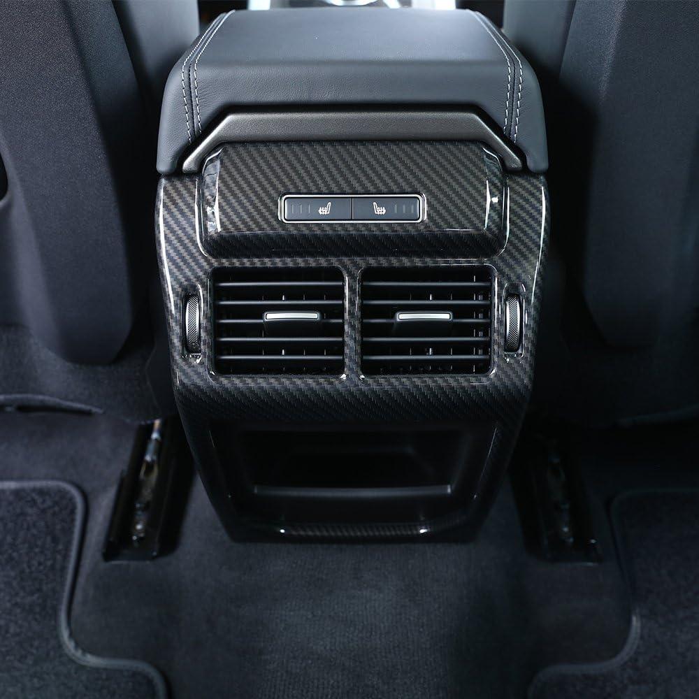 Carbon Faser Stil ABS Kunststoff Zubeh/ör hinten Zeile Air Conditioning Vent Auslass Rahmen Cover Trim