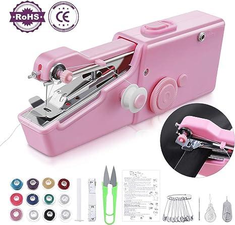 Máquina de coser de mano Jeteven – Mini máquina de coser eléctrica ...