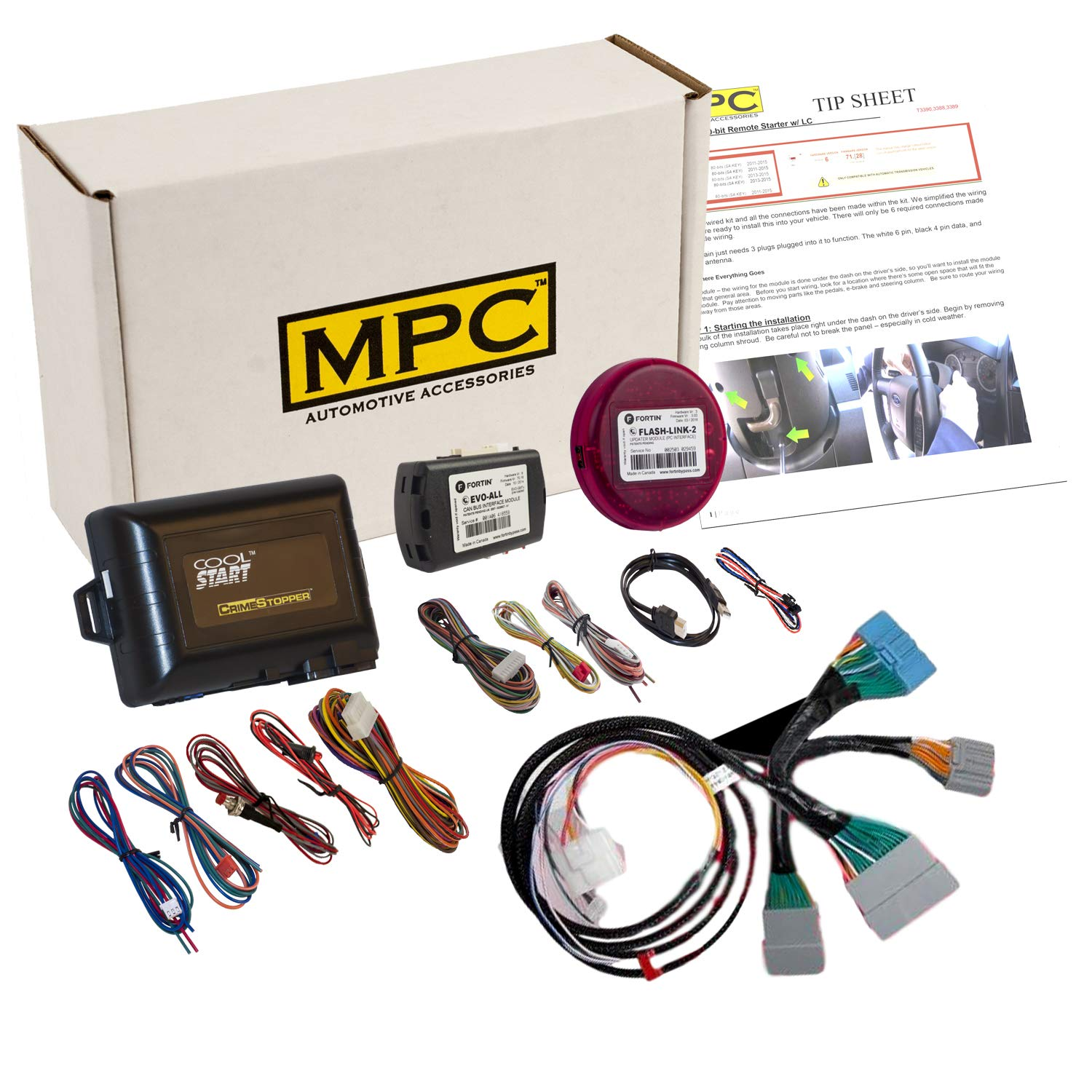MPC Complete Plug-n-Play Factory Remote Activated Remote Start Kit for 2016-2018 Honda HRV - Includes Software Loader