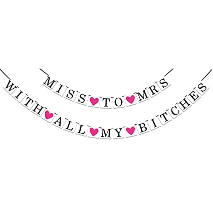 a8f150947e Image Unavailable. Image not available for. Color  2-in-1 Miss To Mrs Classy    Sassy Bachelorette Party ...