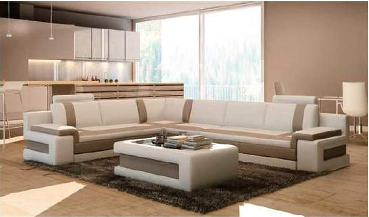 Amazon Com My Aashis Luxury Two Tone Modern Contemporary Sectional