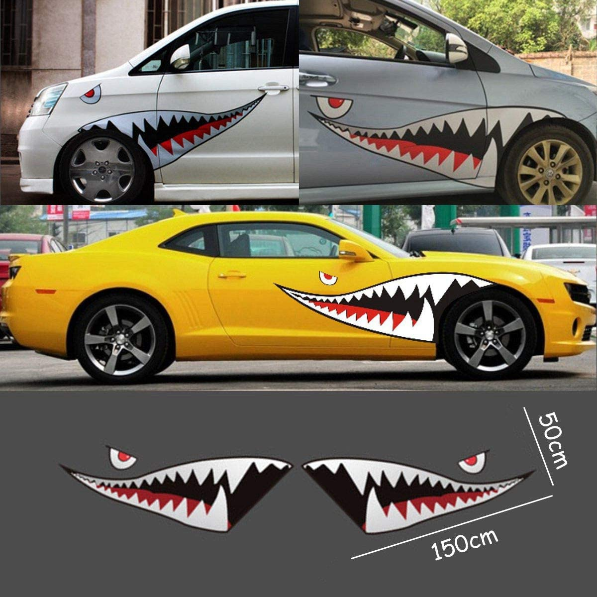 Select Size SHARK Vynil Car Sticker Decal
