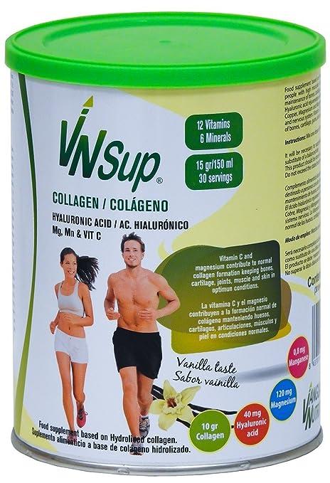 VNSup Colágeno con ácido hialurónico (40 mg), 30 tomas de 450 gr,