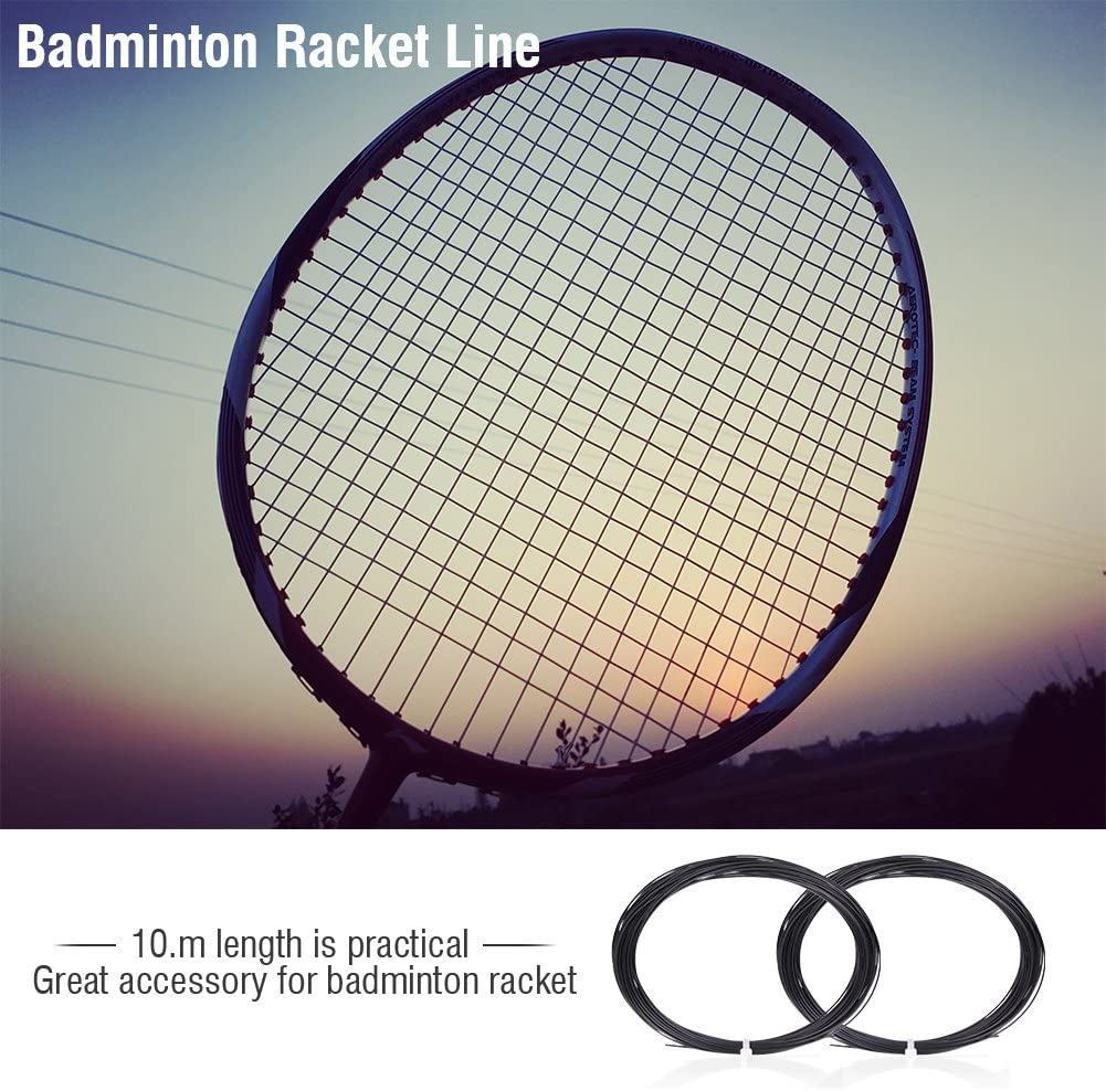 6 Colors 10m Durable Nylon High Flexibility Badminton Racket String Racquet String Line Badminton Repair Accessory Keenso Badminton Racket String