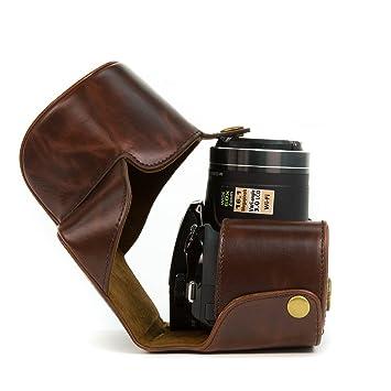 MegaGear MG267 Estuche para cámara fotográfica - Funda (Funda Protectora para el Cuerpo de la cámara, Nikon, Coolpix P610, Marrón)
