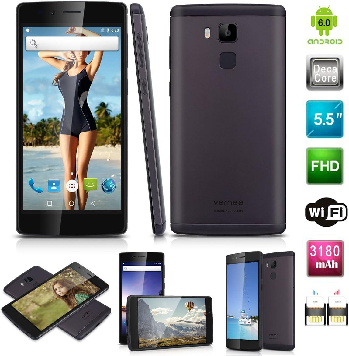 Vernee Apollo Lite 4G Smartphone Android 6.0 MT6797 Deca-Core A53 ...