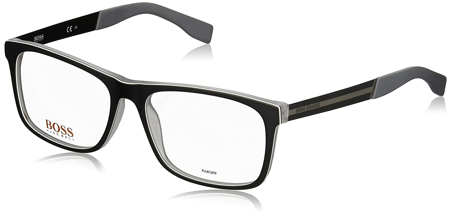 Boss Orange - BO 0248, Wayfarer, acetate, men, BLACK RUTHENIUM(QDK), 56/17/140
