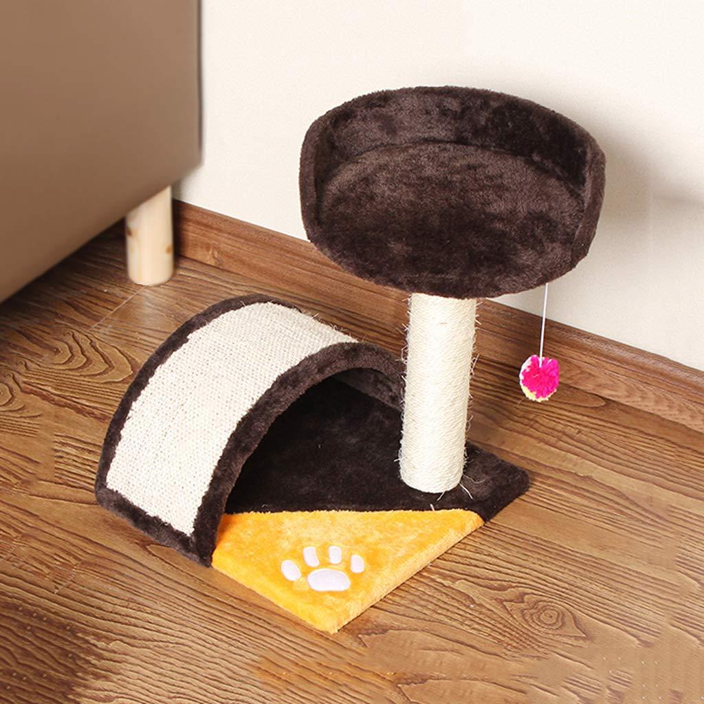 C Pet nest Small cat Climbing Frame Natural sisal Arch Bridge Big cat Toy Creative Design cat Scratch Board Claw Claw Supplies orange + Brown