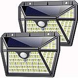 Luz Solar Exterior 210LED, AOPAWA [Actualizada 2000 Lúmenes] Foco Solar con Sensor de Movimiento Lámpara Solar Exterior…