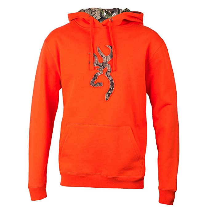 b7a23f1491801 Browning Men's Buckmark Camo Hoodie, Salamander, Large: Amazon.co.uk:  Clothing