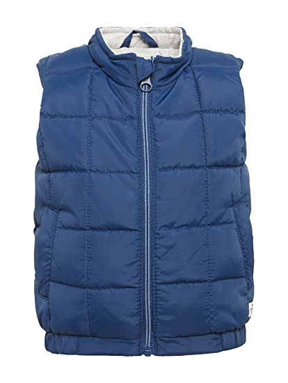 TOM TAILOR Unisex Baby Weste Uni S-Less Stand-up-coll Strickjacke