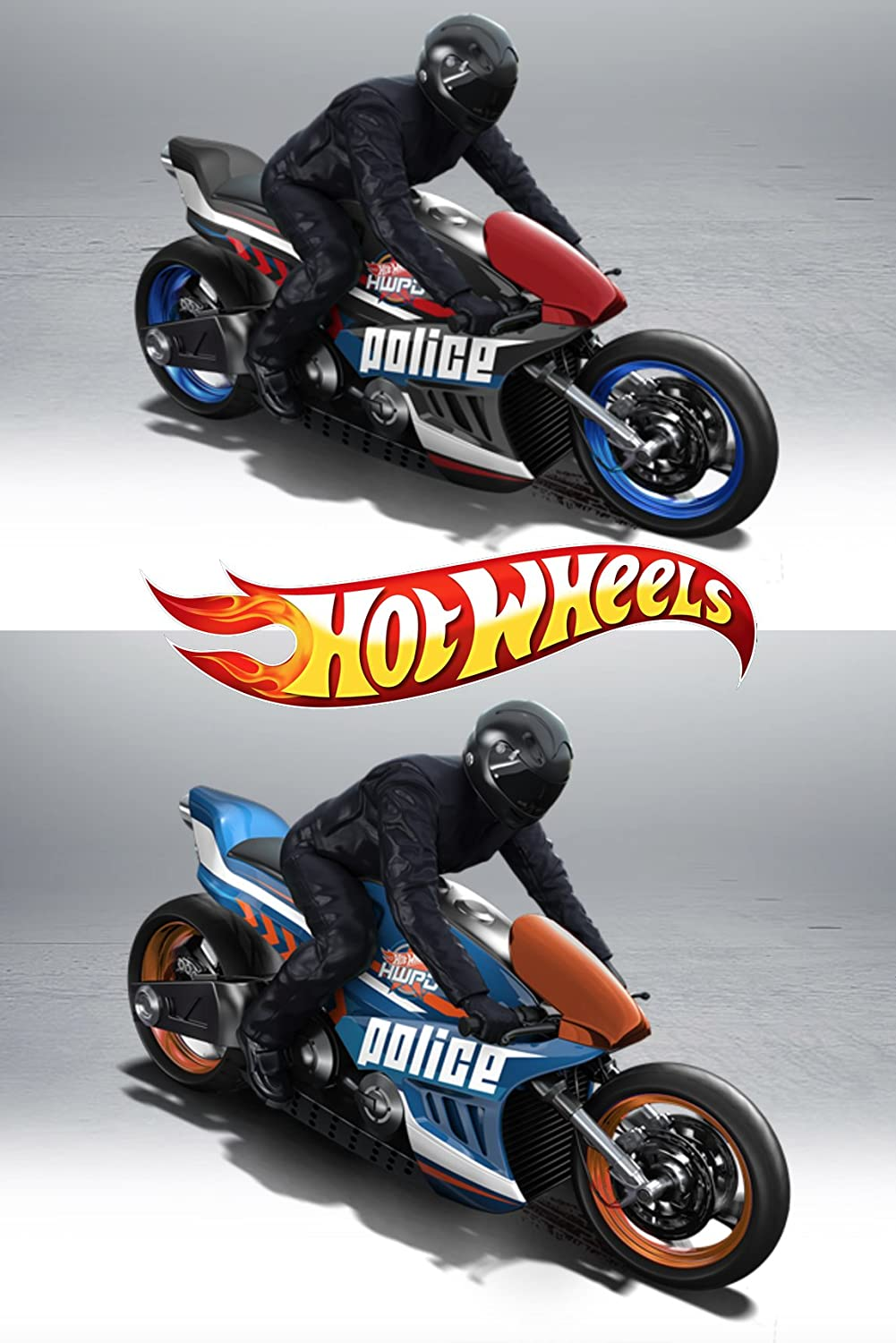Hw hot wheels 2015 hw city 48 250 canyon carver police motorcycle - Amazon Com Police Motorcycles 2015 Hot Wheels Canyon Carver Cycles 48 Blue Black In Protective Cases Toys Games