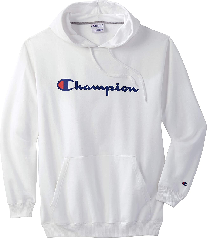 Champion Mens Big /& Tall Script Hoodie