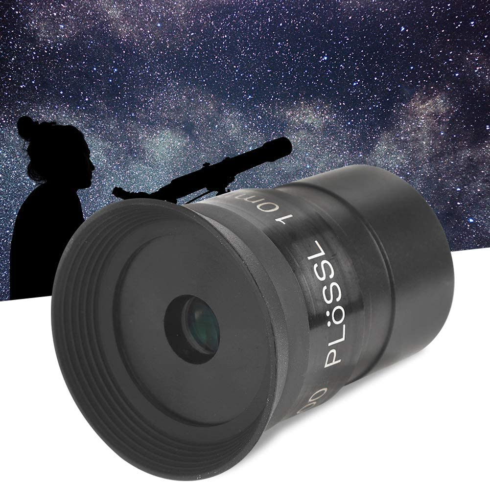 Black Metal 10mm 1.25inch Multilayer Wideband Coating Monocular Eyepiece for Astronomical Telescope Accessory for 1.25in Astronomic Telescope Telescope Lens