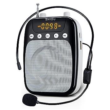 WinBridge WB002 4 en 1 batería amplificador de la voz docente micrófono con auriculares con cable