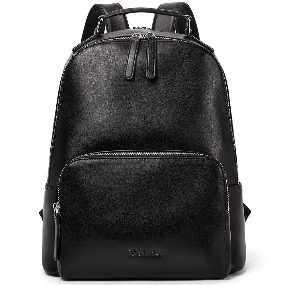 BOSTANTEN Genuine Leather Backpack Purse for Women Travel Large College Shoulder Bag Black by BOSTANTEN