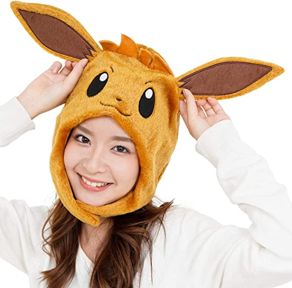 Cozy costume Eevee beanie for adults