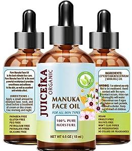 MANUKA OIL Australian 100% Pure Moisturizer. Antioxidant, Anti-Aging, Healing Face Oil 0.5 Fl.Oz. - 15 ml by Juiceika