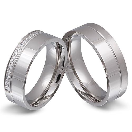 Dos socios anillos, anillos de compromiso, anillos de la amistad, con grabado de