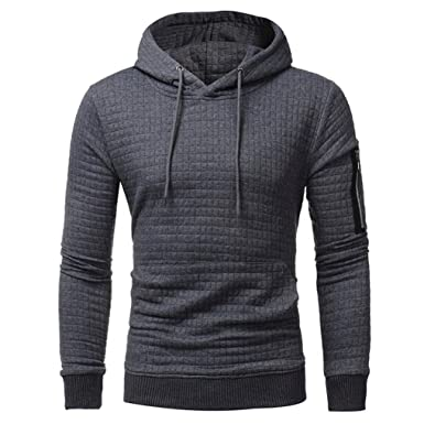 Herbst Herren Shirt Hip-Hop Langarm Kapuze Sweatshirt Sweat Coat Mantel Pullover