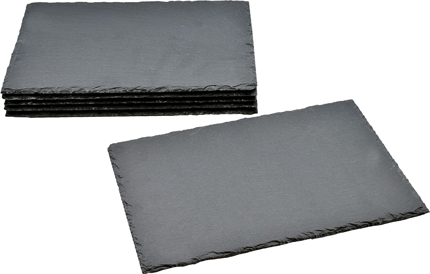Argon Tableware Rectangular Natural Slate Placemats - Set Of 6