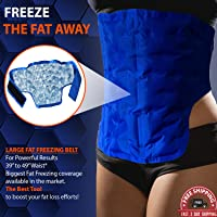 CRYOBOD Non-invasive Cold Fat Freezing Treatment Body-Sculpting System Cool Body Wrap Ultimate At Home Fat Cell Freeze Wrap Cold Sculpt Waist Trimmer Belly 39 to 49 Inch Waist.