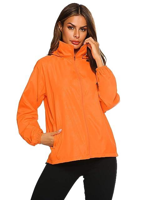 Zeagoo Lightweight Windbreaker Women Packable Raincoat