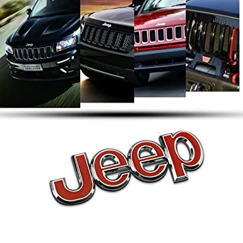 Hanway 3D Aufkleber Jeep vorne Motorhaube Emblem Kofferraum Worte Jeep Kopf Kapuze Logo Aufkleber Wrangler Grand Cherokee Liberty Kompass